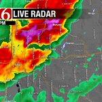 T-storm moving over Tulsa. Not severe. Heavy rain & lightning #OKwx #NewsOn6 https://t.co/voyWHDwKtP