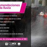 Se reporta lluvia en la #CDMX. Maneja con cuidado y toma precauciones. https://t.co/pufGrqs4uV