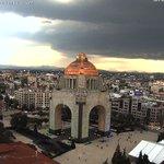La nube de tormenta luce así en este momento desde el Monumento a la Revolución, Ciudad de México #CDMX: https://t.co/SQls4PVIiJ