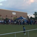UWF students lining up for free t-shirts for scrimmage.#pnjsports https://t.co/EG6Y0dufOK