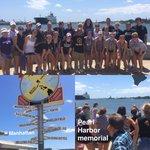 INCREDIBLE experience at the Pearl Harbor Memorial 🇺🇸 today! #KStateVB #Family 🏐 https://t.co/JAzMXj4YtR