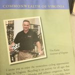 Here a little outtake from my trip to @VaDOT headquarters today. A 2006-era @timkaine on the Virginia bike map. https://t.co/4GHLkHXfCJ