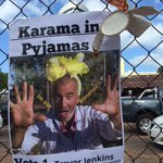 One of Darwins more colourful candidates, performance artists and rubbish warrior Trevor Jenkins #ntvotes https://t.co/27Flambmkc