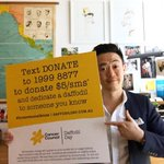 Its Daffodil Day today. Donate $5 to @CancerCouncilOz by SMS-ing 19998877 & dedicate a daffodil #forsomeoneiknow 💐 https://t.co/GP6Twt6aeQ