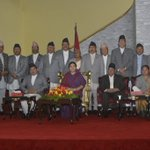 13 newly-appointed ministers from Nepali Congress take oath of office and secrecy https://t.co/Ygs275XcOp https://t.co/VjMGkeN7IK
