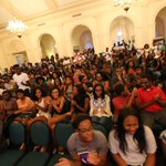 """Full house tonight in Barfield Drawing Room for """"In Living Color: Welcome to BU""""!   PHOTOS: https://t.co/4T6rkRl6NM https://t.co/QfCq83FLdj"""