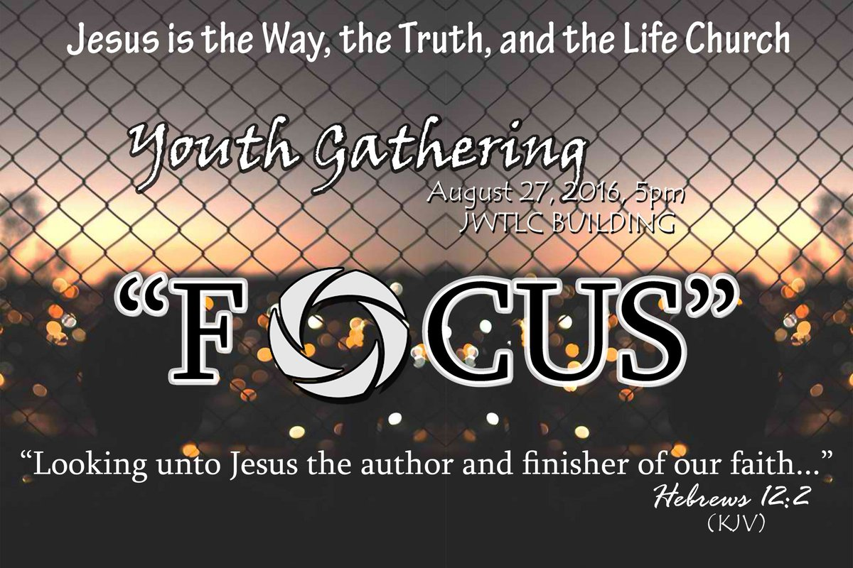 Join us! As we have our Youth Gathering this Saturday. See you there! God bless
