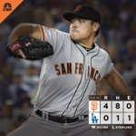 Matt Moore carries no-hitter into the 9th inning and the #SFGiants WIN! 👊 #BeatLA https://t.co/0yHs7rOV7F