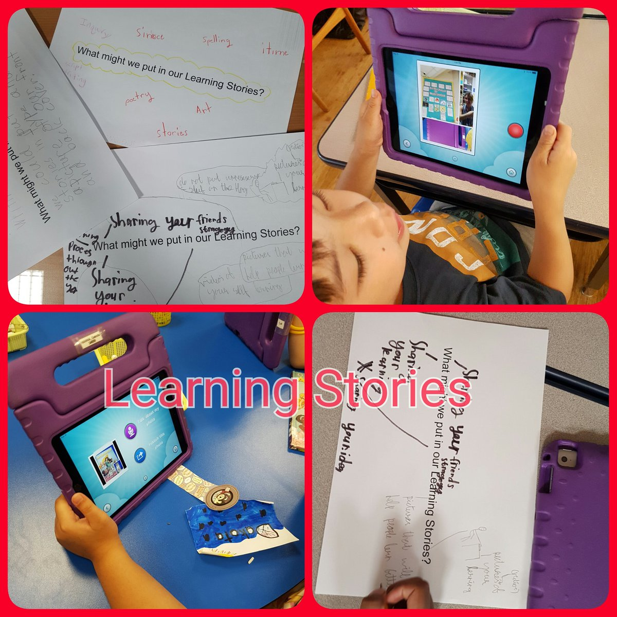 Grade 3s first attempt at what a Learning Story might look like using Piccollage and Easyblog @JISElementary https://t.co/eF1kpJKdPJ