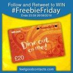 #FreebieFriday Follow + RT to #Win a £20 Nandos Gift Card!! #FeelGood https://t.co/H3hIyhLiB9  #FeelGood https://t.co/hHqyt0EYqq