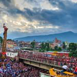 Machhindra Nath Chariot pulling at #Nakhu, #Lalitpur. #Nepal https://t.co/ehzjjvtv42