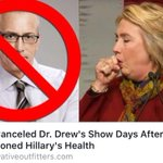 CNN Cancel Dr Drew Show Days After Questioned Hillary Health #MAGA #tcot #AmericaFirst https://t.co/q62342SUT0 https://t.co/Bj55qezGxn