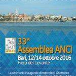 Assemblea Congressuale @comuni_anci Bari 12-14 Ottobre 2016 https://t.co/eE0gWU6lnE