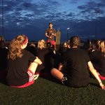 Team-building exercise done... Coach @JonCrossland19 speaks to the team. #CDS @UNB_Soccer https://t.co/HnDNJeqejl