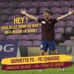 Servette FC - FC Chiasso, cest ce dimanche à 15h au Stade de Genève. https://t.co/1YEbwx0CYb