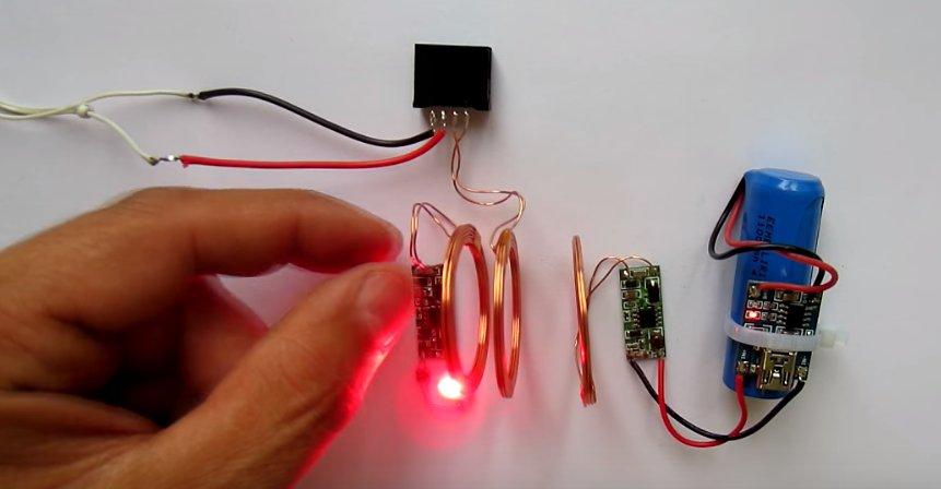 Беспроводная зарядка своими руками из зарядника 67