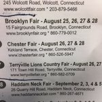 Good weather-Some great Fairs happening this weekend! @TheBrooklynFair Chester Fair & Terryville @WTNH https://t.co/EGhDikl0NA