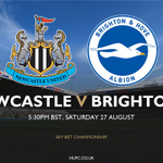 🎟 TICKETS: There is limited availability remaining for tomorrows game against @OfficialBHAFC. #NUFC https://t.co/nXVfCN3R0g
