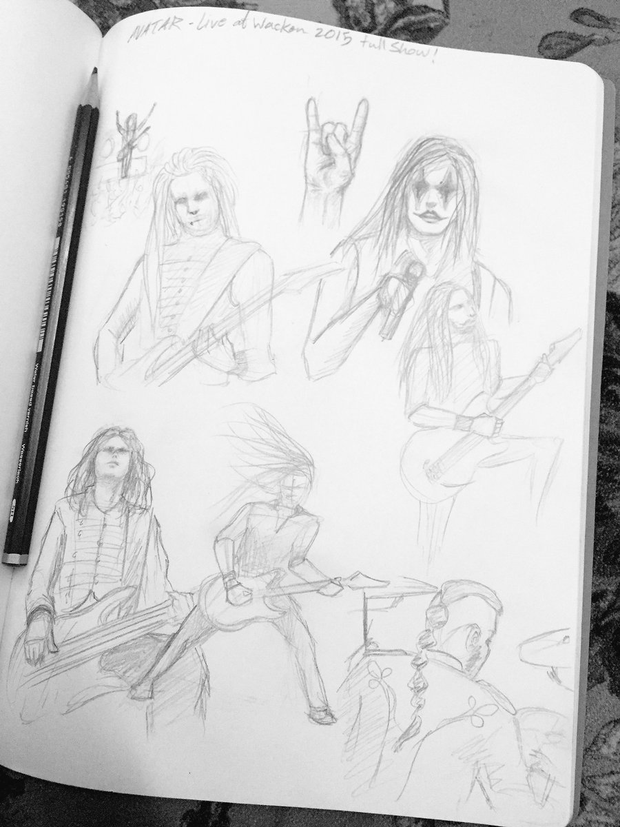 Yesterday I watched Avatar's concert to get in a good mood so I sketched some! ✨ #practicing https://t.co/BkDyJLBb9K