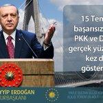 CB: 15 Temmuz başarısız olunca PKK ve DAEŞ ile gerçek yüzlerini bir kez daha gösterdiler. https://t.co/h9VYBb9eU2