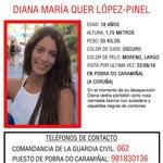 #DianaQuer El delegado del Gobierno en Galicia pide colaboración ciudadana. RT, por favor https://t.co/I0XwLCSOaV https://t.co/956389kX9W