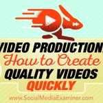Video Production: How to Create Quality Videos Quickly https://t.co/BES1OWqjp1 #socialmedia #socialmedia https://t.co/CS0IYjztEu