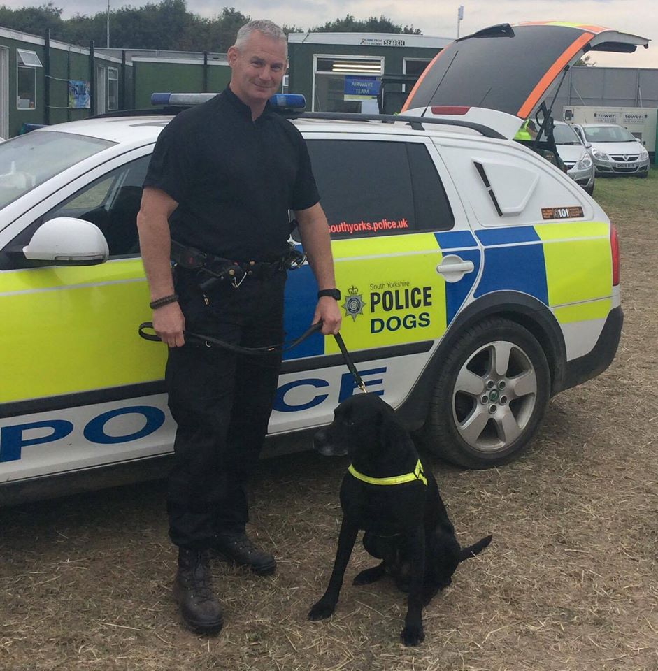 Top dog PD Duke sniffed out the biggest ever drugs haul at #Creamfields Fest yday! @syptweet #NationalDogDay https://t.co/3gMPP289HB