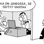Pomo piirroksissa -sarjakuvanäyttely ruotii johtamisen humoristista puolta #johtajuussymposium #johtaminen @jkk_uta https://t.co/5CNLsUcUGW