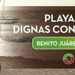 #BenitoJuárez hoy esta mejor con playas limpias y dignas con #BlueFlag. https://t.co/bViRMaUjLl