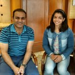 Great meeting @SakshiMalik .She did not wrestle,and so I comfortably congratulated her for making the country proud. https://t.co/n4JQBGxpVw