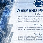 Its a busy weekend for our Nittany Lions! @PennStateFH, @PennStateWSOC, @PennStateVBALL & @PennStateMSOC in action. https://t.co/18MxU2LEDn
