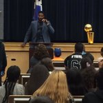 Tristan brings the NBA trophy to his old stomping grounds #dybasketball https://t.co/gfzBcqkxI1
