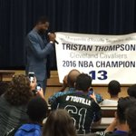 DY retires Tristan Thompsons number https://t.co/w3j752W5yB