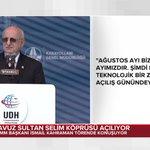 """#CANLI """"Yavuz Sultan Selim Köprüsü Açılıyor"""" TBMM Başkanı İsmail Kahraman konuşuyor... https://t.co/QiUKTFh9Js https://t.co/FqAuoarUHQ"""