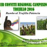 Mañana se realizará el I Convite Regional Campesino Trujillo 2016 ¡ASISTE! Te esperamos https://t.co/uL4mTfrLyu