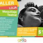 #CREA2016 🎭 Te invita a ser parte del taller de maquillaje teatral, inscríbete ya! 🎭⏰ 👉 https://t.co/ILVuTMoKdo