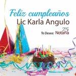 Feliz Cumpleaños a Lic. Karla Angulo de toda la familia #Notaria75. @VivoEnCancun https://t.co/DEeVA6slk8