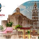 Te invitamos al 23° Día de la Solidaridad de las Ciudades con Sitio Patrimonio Mundial. ¡Te esperamos! #Cuernavaca https://t.co/bYQBAwwNDT