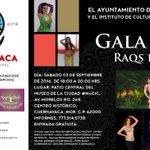 """Te invitamos a la presentación de """"Gala 2016 Raqs be atefa"""" el sábado 3 de septiembre en el #MuCiC. ¡Te esperamos! https://t.co/Q8zJbwqgZ3"""