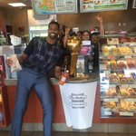 I saw Sidney Crosby brought the Stanley Cup to @timhortons so only right I brought Larry!! 🍩🍩 https://t.co/Rac0JT9KcB