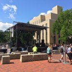 Its a beautiful day for an outdoor concert. @psuspa has the stage set up outside the HUB for tonights festivities. https://t.co/zwgblXonML