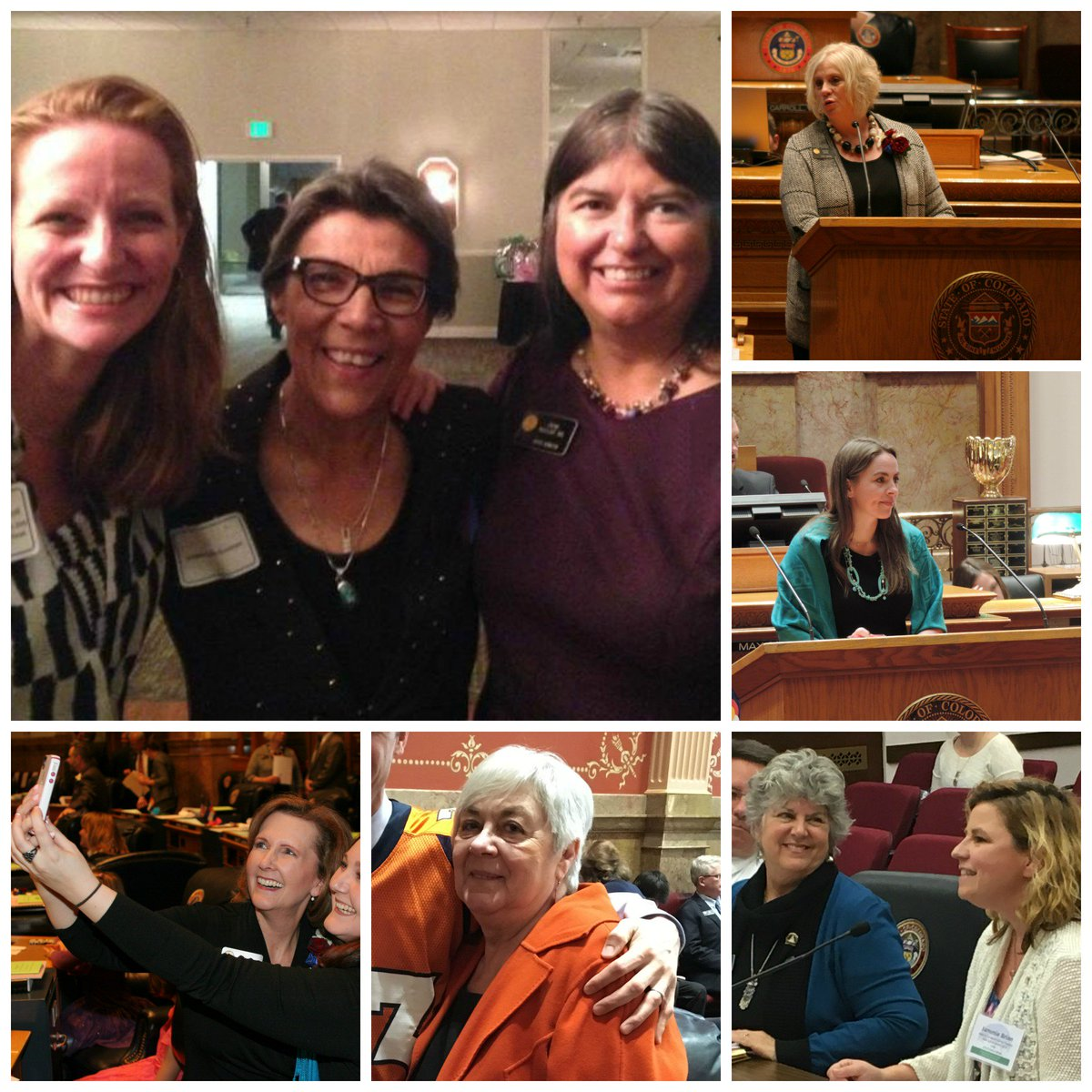 Happy #WomensEqualityDay! #DYK CO has the highest % of women in a state legislature? Including these eight!