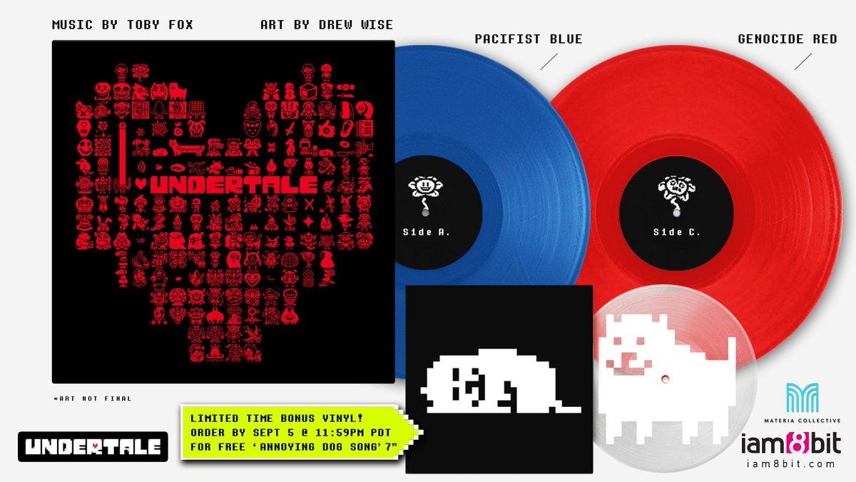 "Surprise! Limited Time Only - @UNDERTALE #Vinyl with Bonus 7"". https://t.co/I1a8WHJMJr @tobyfox #NationalDogDay https://t.co/lKd3KiL66I"