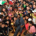 #Brampton Soccer Centre summer camp kids were surprised by @RealTristan13 and the #NBA championship trophy. https://t.co/O1UfXhEI7P