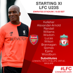 #LFC U23s team to face Arsenal tonight! https://t.co/D0HHIs6dZg