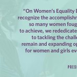 Weve come a long way, but theres still more to do to make sure women are truly treated equally. #WomensEqualityDay https://t.co/B7C0Nk27T5