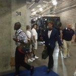 Tom Brady arriving on the first bus in Carolina. #WBZ https://t.co/WRKKW99m5Z