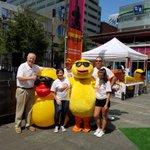 Team @WCPO representing at the Quacky Games #RDR2016 #RubberDuckRegatta https://t.co/UrcEw1GNsj