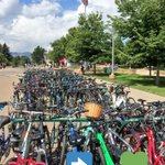 Full 🚲 racks, full 💚s. Its good to have you back, @ColoradoStateU Rams! #HappyFriday PS #youmadeit! https://t.co/g0daX1s5cz