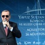 Yavuz Sultan Selim köprüsü AÇILDI... İŞTE BÜYÜK TÜRKİYE... 🌉🌉 59 metre genişliği ile dünyanın en geniş köprüsü... https://t.co/aFNtlRivtE